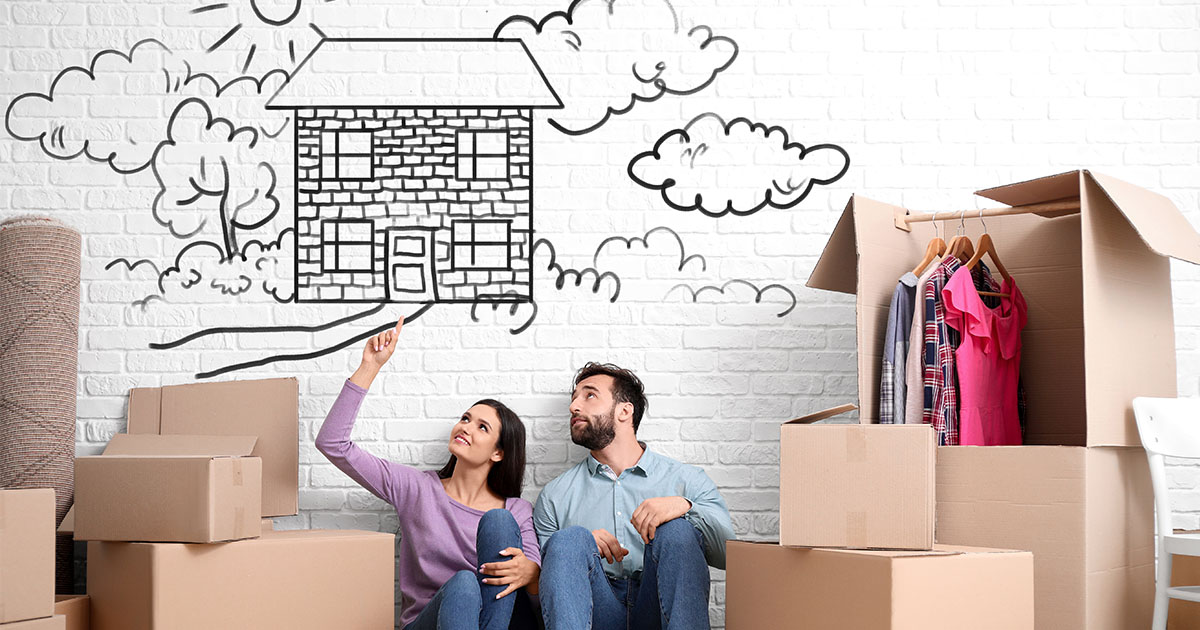 Couple Preparing To Buy A Second Home